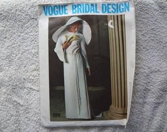 Vogue Bridal Design 1960s Bride, Maxi & Mini dress pattern Sz 10