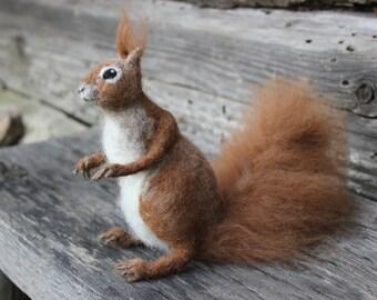 Needle Felted Animal  Needle Felted Squirrel.