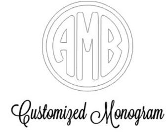 Customize Your Monogram- Circle Monogram SVG cut file