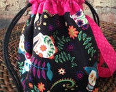 Sugar Skull Sock Project Bag