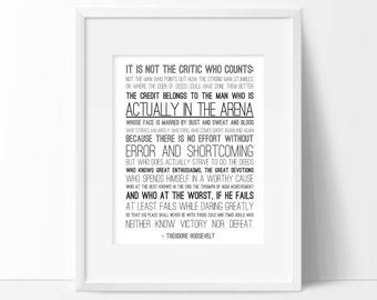 Man in the Arena Print - PDF Version