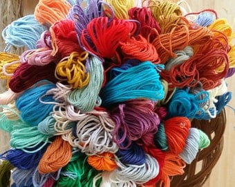 10 skeins Pk - Embroidery Floss - 100 % cotton Floss  - 10 skeins - cross stitch floss