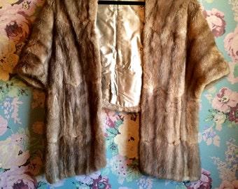 Vintage Fur cape vest