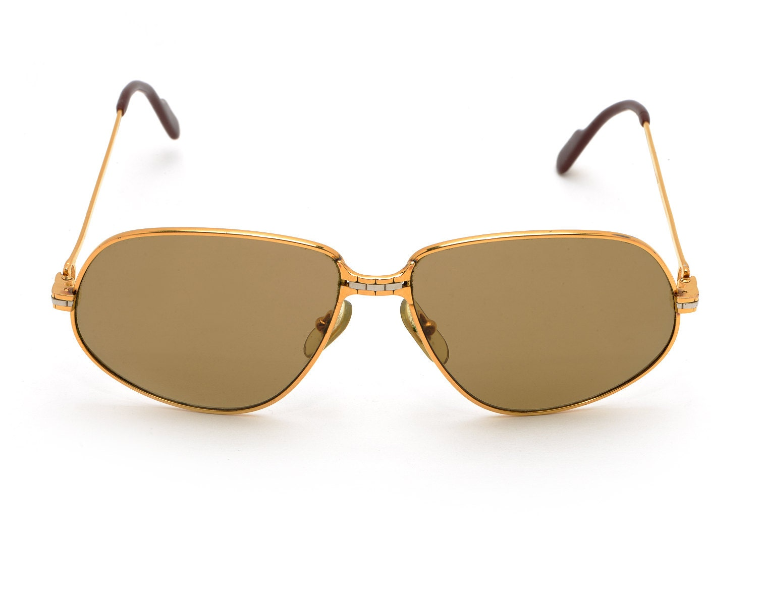Cartier Gold Frame Sunglasses : Vintage Cartier Paris Sunglasses Gold Metal Frame 59-14-140
