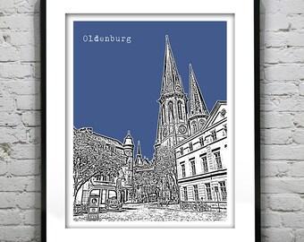 Oldenburg Poster Germany Art Print Skyline