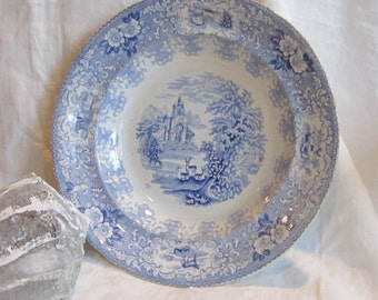 Vintage 19th c. English Light Blue Transfer Bowl