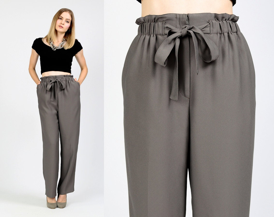Paper bag trousers -  Zoom