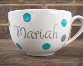Personalized oversized coffee, tea, cocoa, soup mug