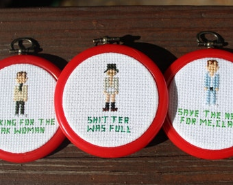 PATTERNS ONLY - Set of 5 Christmas Vacation Ornament patterns - 3 Cousin Eddie Ornaments, Aunt Bethany, Clark Griswold cross stitch