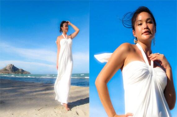 Beach halter maxi dress