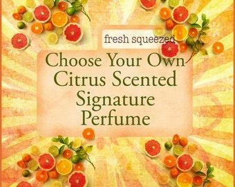 Citrus Perfume - Choose Your Own Citrus Perfume Oil Scent - Lemon, Orange, Lime, Grapefruit - Perfume Oil - Roll-On Perfume - Vegan Perfume