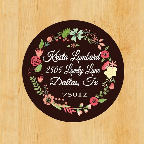 Return address label custom stickers personalized stickers for Custom mailing stickers