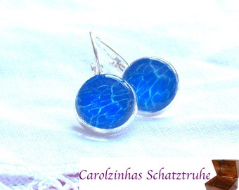 Earrings Swimming pool blue for the summer