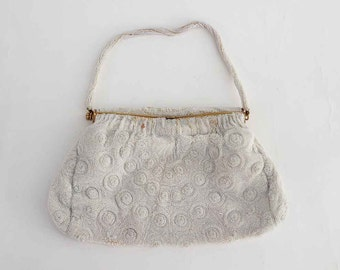 The One Million Pearls Vintage Beaded Evening Purse Hand Made in France: Antique Purse, Clutch, Evening Bag, Jeweled Purse, Dinner Tote