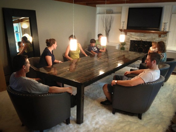 Unavailable listing on etsy for 12 person farmhouse table