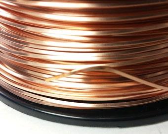 16ga square copper wire, dead soft, solid bare copper wire, USA made 10'