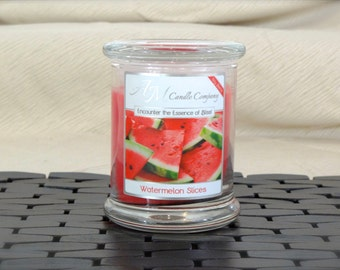 Watermelon Slices - Highly Scented Soy Candles by AM Candle Company