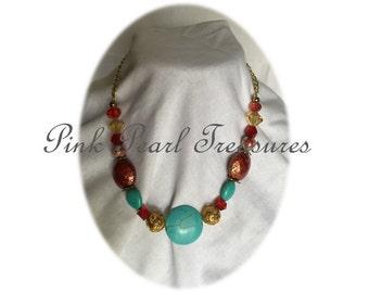 Anna Marie beaded necklace