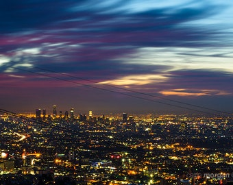 Los Angeles Cityscape Photography, Urban Landscape Photo, Urban Photo Print, City Photo, Sunrise Photo, Urban Home Decor, California Photo