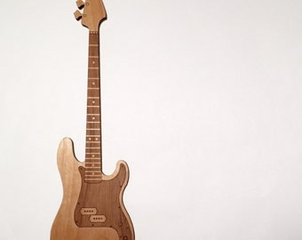 Wood Electric Bass Ornament