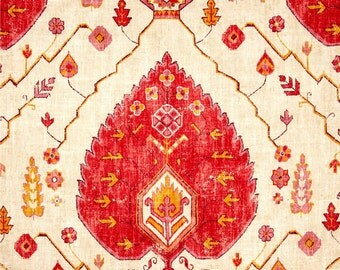 Fabric by the Yard Richloom Aubusson Blend Coral