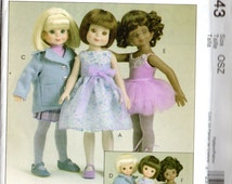 """McCall's BETSY McCALL DOLL Clothes Pattern 4743  For 8"""" 14"""" Dolls"""
