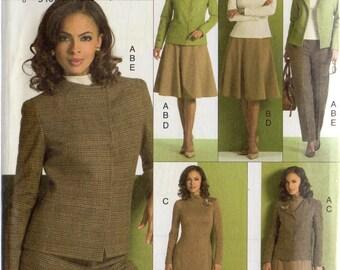 Vogue 5 Easy Pieces Pattern 8343 TOP Jacket SKIRT Dress PANTS Misses 18 20 22