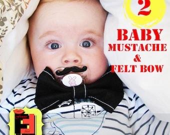 Mustache Pacifier - photo prop for an awesome baby-  Baby Mustache