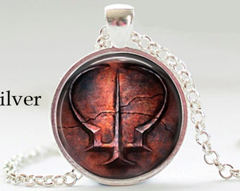 Handmade dark souls ii etsy brotherhood of blood dark souls ii pendant necklace geekery video game pc game pendant gift for aloadofball Choice Image