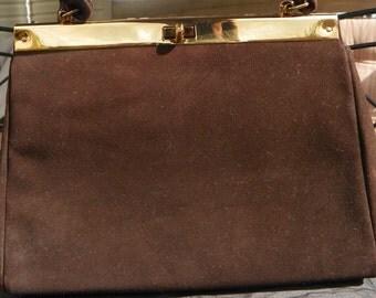 Vintage Jana Brown Faux Suede Handbag