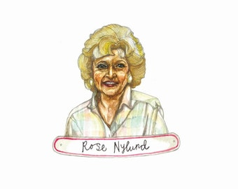 The Golden Girls, Rose Nylund Print