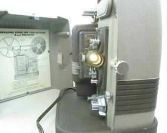MOVIE PROJECTOR, Keystone, 8 mm Projector, vintage movie projector, K 100