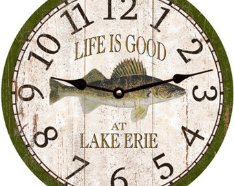 Walleye Clock- Personalized Walleye Clock