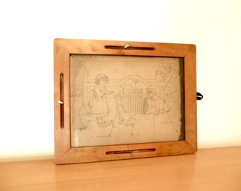 Antique School House Sketch Tablet Tracing Board