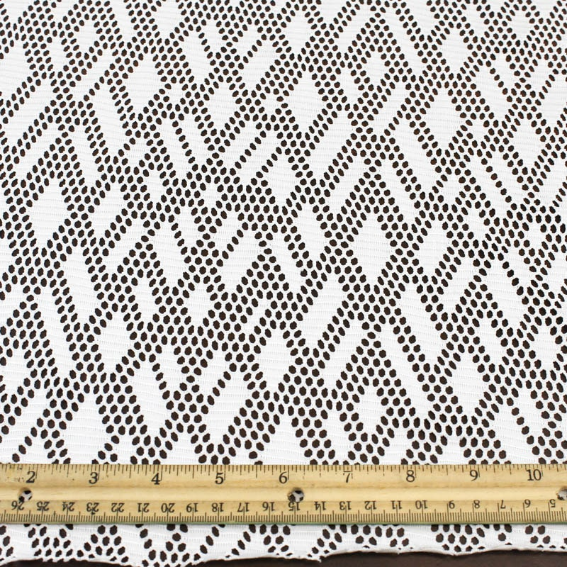 Off white stretch lace fabric by the yard or wholesale rhombus for Cheap fabric by the yard