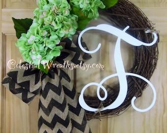 SPRING wreath - wreaths  - hydrangea wreath - grapevine wreath - easter wreath - door wreath - mothers day