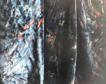 NOT Devoré, Velvet Scarf, Black Velvet Scarf, Velvet Oblong Scarf, Oblong Scarf, Silk, Viscose, 13 x 62 inches