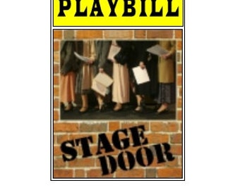 Theater / Show Charm - Playbill Play Bill - Stage Door