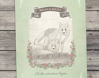 Woodland Love Wedding Invitation Printable DIY