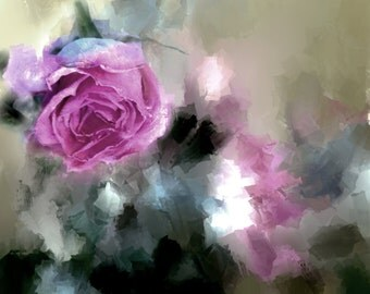 Art, Photography, Wall Art,Nature,Home Decor, Fine Art Print, Dreamy Pink, Green, Sage, White Black, Pink Painted Rose, Rose, Flower,Art