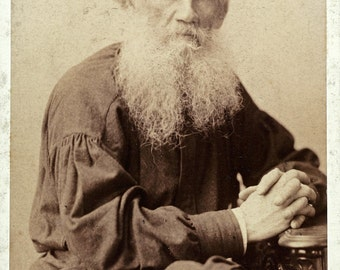 Leo Tolstoy -Portrait 1901 Russian Writer  Photo Print