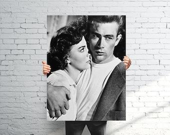 "18"" x 22"" Rebel Without a Cause Print - Vintage James Dean Art"