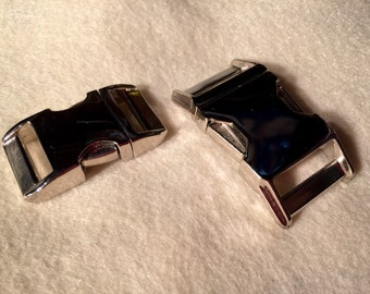 Metal buckle upgrade for adjustable side release collars