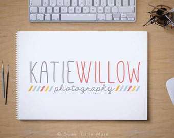 Premade logo design - modern logo and watermark - photography logo
