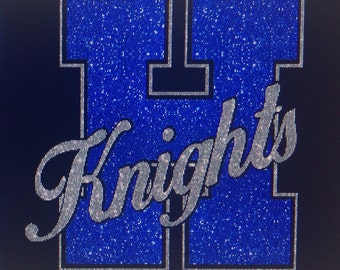 Glitter school spirit shirt