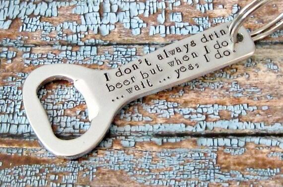 hand stamped keychain bottle opener dos by lilybrookevintage. Black Bedroom Furniture Sets. Home Design Ideas