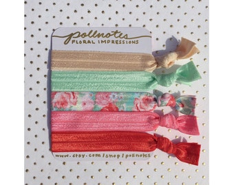 The Floral Impressions Hairtie Set