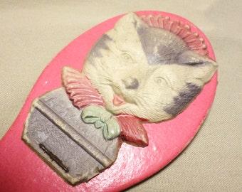 Vintage pressed German Cat flap Noise Maker