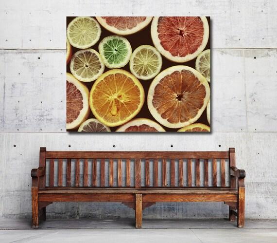 Https Etsy Com Listing 207948861 Citrus Kitchen Decor Fruit Kitchen Print