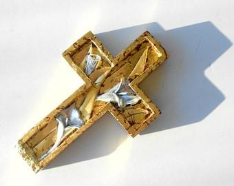"10""1/8x6""3/8,Unique Wall Crosses,Decorative Wall Crosses,Wall Cross Decor,Carved Mahoganey Wood Cross,Gold Frame Cross,Wall Cross Decor"